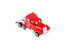 Brinquedo do carro do close up no fundo branco Imagens de Stock Royalty Free