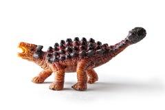 Brinquedo do dinossauro de Saichania isolado no fundo branco com trajeto de grampeamento Imagens de Stock