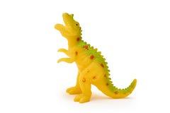 Brinquedo do dinossauro do silicone ou do plástico isolado no fundo branco fotografia de stock