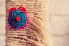 Brinquedo do gato com a cara colorida do rato Imagem de Stock Royalty Free