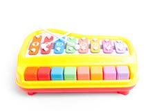 Brinquedo do Glockenspiel isolado no fundo branco Foto de Stock