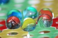 Brinquedo do jogo dos verificadores chineses de esfera de vidro Foto de Stock Royalty Free