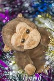 Brinquedo do macaco com decorações Foto de Stock Royalty Free