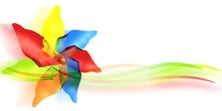 Brinquedo do moinho de vento Fotos de Stock Royalty Free