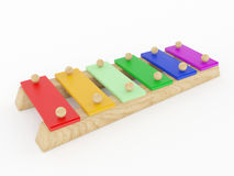 Brinquedo do musical do xilofone Imagens de Stock