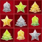 Brinquedo do Natal nove, vetor Fotos de Stock