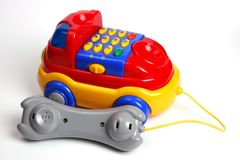 Brinquedo do telefone do carro Fotografia de Stock Royalty Free