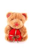 Brinquedo do urso da peluche com presente foto de stock royalty free