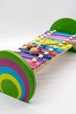 Brinquedo do xilofone com 12 acordos coloridos imagem de stock royalty free