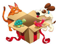 Brinquedo e animais de estimação ilustração royalty free