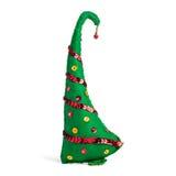 Brinquedo feito a mão da árvore de Natal no fundo branco Fotos de Stock