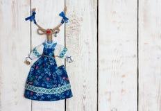 Brinquedo feito a mão da cabra Imagens de Stock Royalty Free