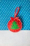 Brinquedo feito a mão de feltro do Natal Imagens de Stock Royalty Free
