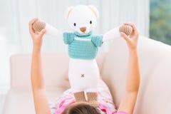 Brinquedo feito malha Imagem de Stock Royalty Free