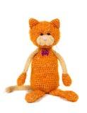 Brinquedo feito malha do gato Fotos de Stock