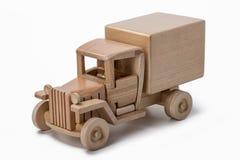 Brinquedo isolado do caminhão do caminhão no fundo branco imagem de stock