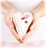Brinquedo macio coração-dado forma Foto de Stock Royalty Free