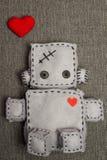 Brinquedo macio do robô Fotos de Stock
