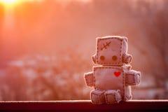 Brinquedo macio do robô Fotos de Stock Royalty Free