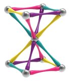 Brinquedo magnético sob a forma de uma ampulheta, pirâmide invertida do ` s das crianças, rendição 3D ilustração do vetor