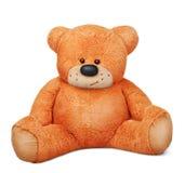 Brinquedo marrom de assento do luxuoso do urso de peluche Fotografia de Stock