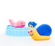 Brinquedo modelo da argila isolado no fundo branco Imagens de Stock Royalty Free
