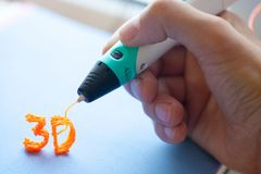 brinquedo moderno do punho 3d Imagens de Stock Royalty Free