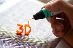 brinquedo moderno do punho 3d Fotografia de Stock