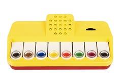 Brinquedo musical 80s do bebê do século XX Foto de Stock