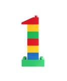 Brinquedo número 1 um do bloco Fotos de Stock Royalty Free
