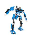Brinquedo para meninos - transformador do robô do construtor imagens de stock