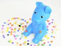 Brinquedo pequeno do porco Foto de Stock