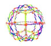 Brinquedo plástico da bola do estiramento isolado no fundo branco O brinquedo colorido da bola do estiramento isolou-se fotografia de stock