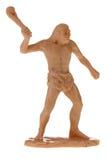 Brinquedo plástico do caveman Fotografia de Stock Royalty Free