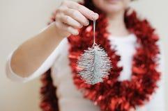 Brinquedo prateado do Natal Imagens de Stock Royalty Free