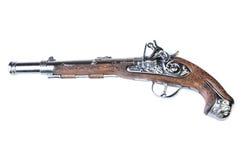 Brinquedo retro do revólver isolado no branco fotografia de stock royalty free