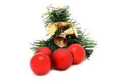Brinquedo vermelho da árvore de Natal da bola Fotografia de Stock