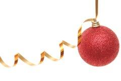 Brinquedo vermelho de ano novo Imagens de Stock
