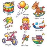 Brinquedos ilustração royalty free