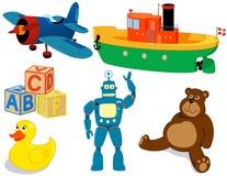 Brinquedos ajustados Fotografia de Stock