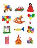 Brinquedos ajustados Ilustração do Vetor