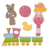 Brinquedos ajustados Foto de Stock