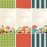 Brinquedos & papel - bandeiras Foto de Stock