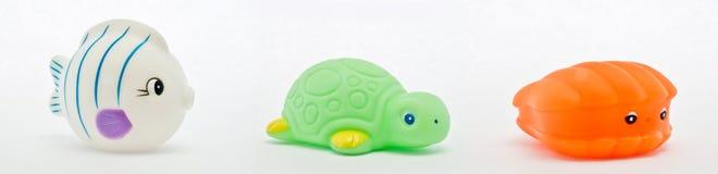 Brinquedos animais de borracha imagem de stock