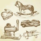 Brinquedos antigos Fotografia de Stock Royalty Free