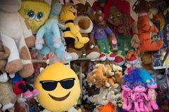 Brinquedos coloridos de pano para crianças foto de stock royalty free