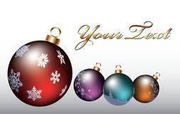 Brinquedos coloridos do Natal Fotografia de Stock