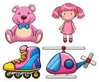 Brinquedos cor-de-rosa ilustração royalty free
