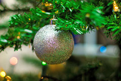 Brinquedos da árvore de Natal imagem de stock royalty free