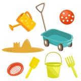 Brinquedos da areia dos desenhos animados Fotografia de Stock Royalty Free
